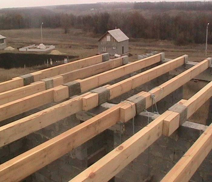 устройство деревянного перекрытия между этажами