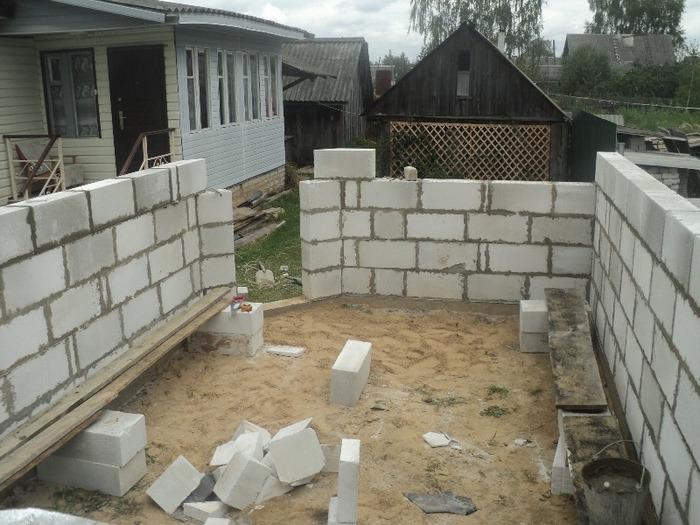 проект гаража из пеноблоков