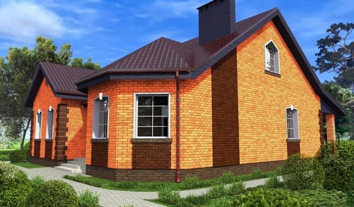 одноэтажные дома из кирпича