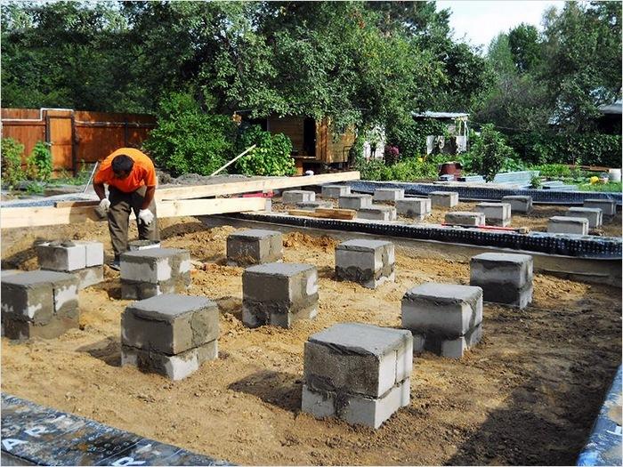 строительство фундамента на песчаном грунте