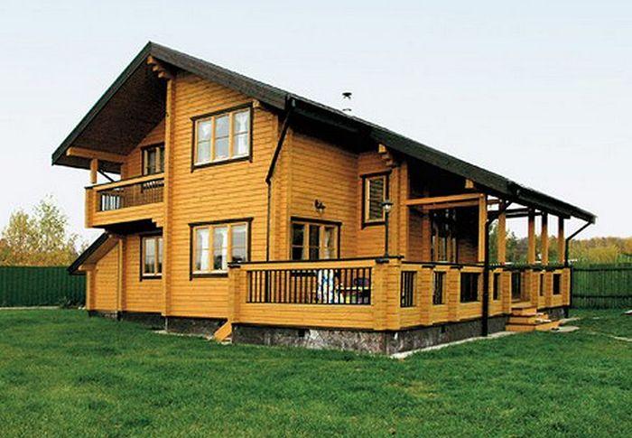 деревянный дом 100 кв м