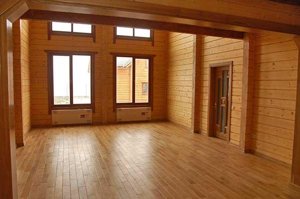 деревянный дом изнутри