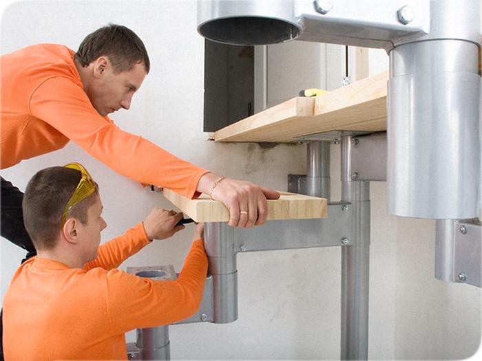 как установить деревянные ступени на бетонную лестницу