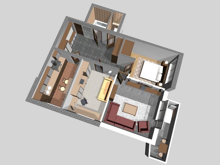 небольшие дома из кирпича фото