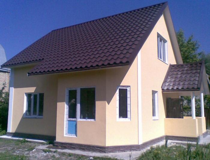 дачный дом из пеноблоков своими руками