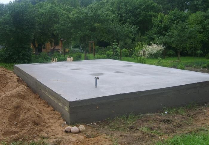 фундамент ленточный для дома из пеноблоков