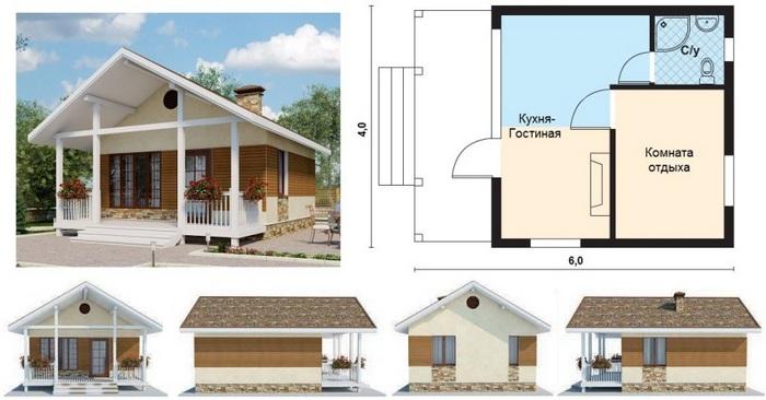 планировка дома с мансардой 10 на 9