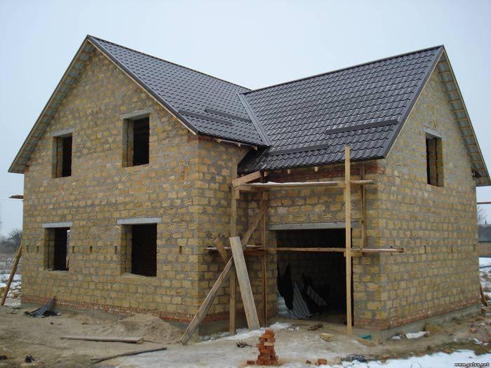 построить дом из ракушечника