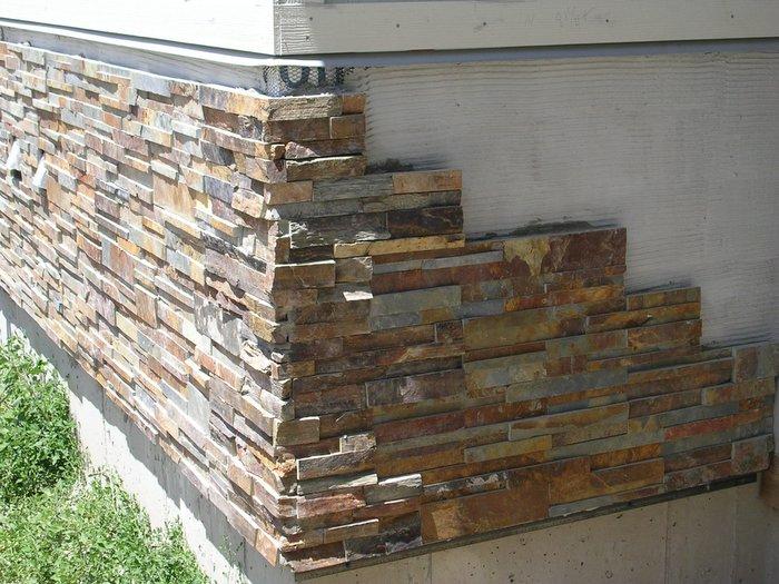 натуральный камень для облицовки цоколя или фасада