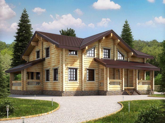 дом из профилированного бруса камерной сушки