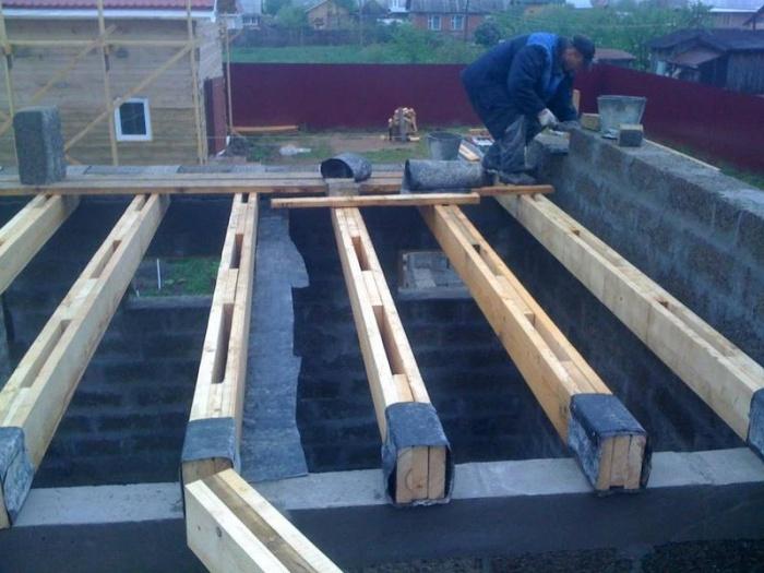 устройство перекрытия второго этажа по деревянным балкам