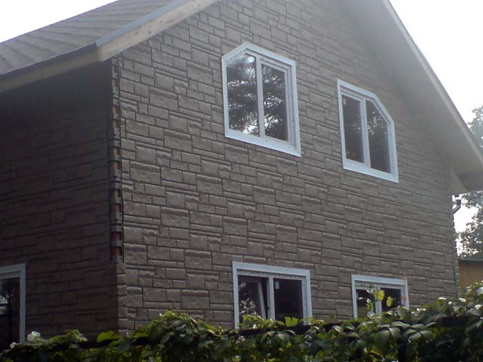 облицовка фасада дома сип панелей