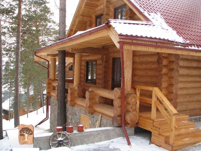 проекты канадских домов из бревна