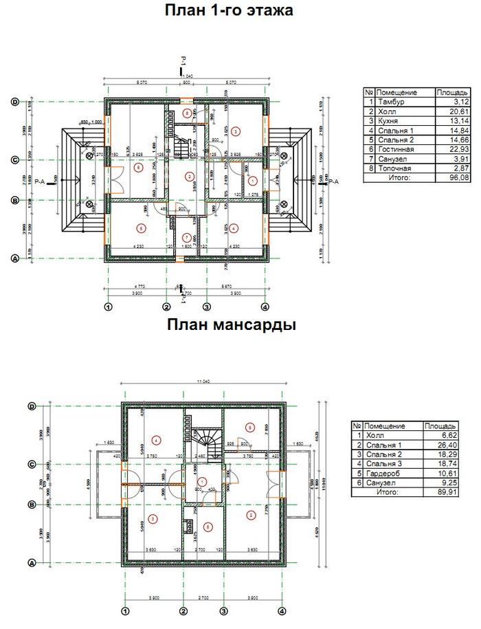 проекты коттеджей фото и планировка