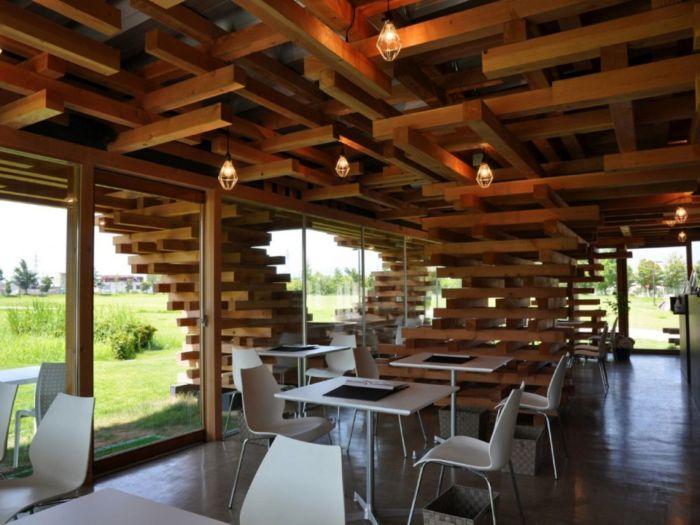строительство дома из двутавровых деревянных балок