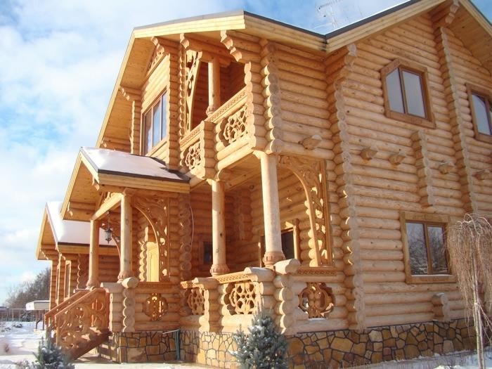 проекты домов из сруба
