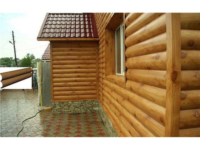 деревянные панели обшивки дома