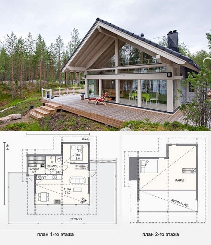 проекты одноэтажных домов финских