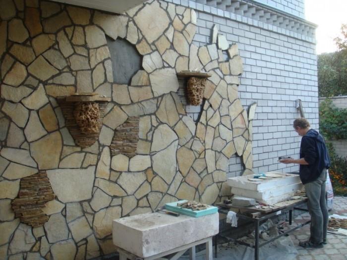 камень дагестанский облицовочный фото