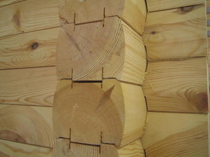 оцилиндрованное бревно с финским профилем