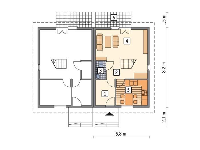проекты жилых домов с мансардой