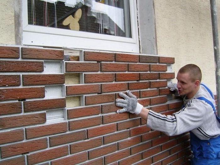 облицовка зданий клинкерной плиткой