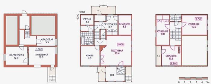 проекты домов коттеджей с цокольным этажом
