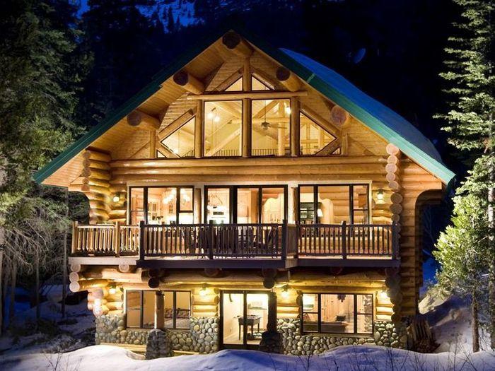 дом бревенчатый интерьер