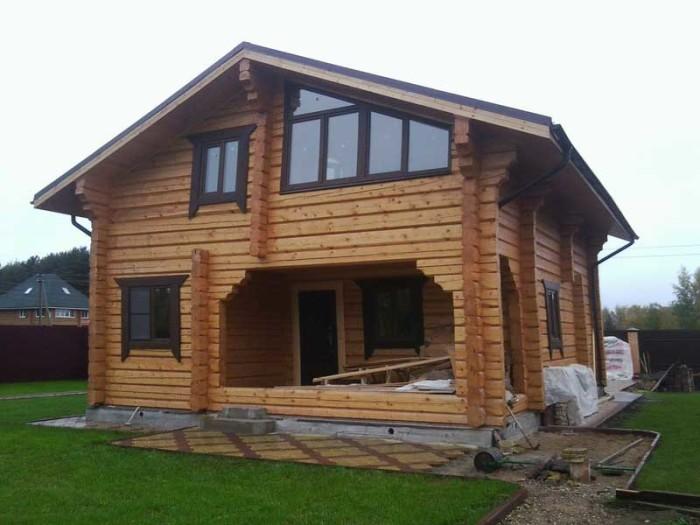 проекты и строительство домов из лафета
