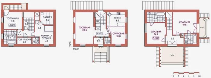 проекты красивых домов и коттеджей с цоколем