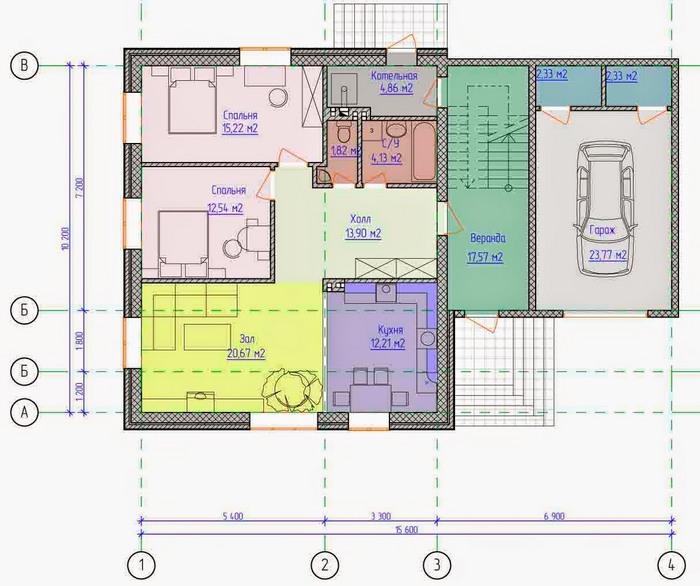 проекты коттеджей и домов с мансардой