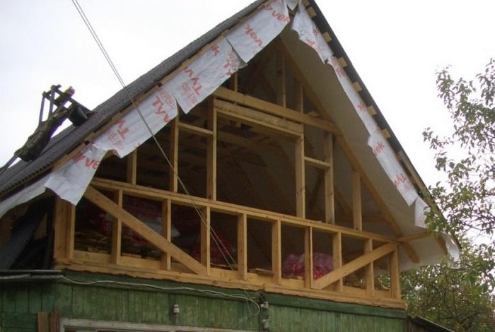 как построить дом с мансардой своими руками
