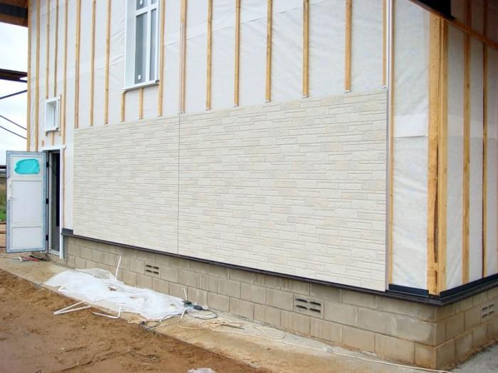 пластиковые панели для облицовки фасада дома