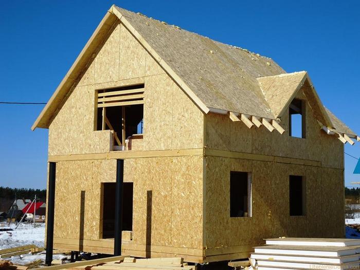 двухэтажный каркасный дом своими руками фото