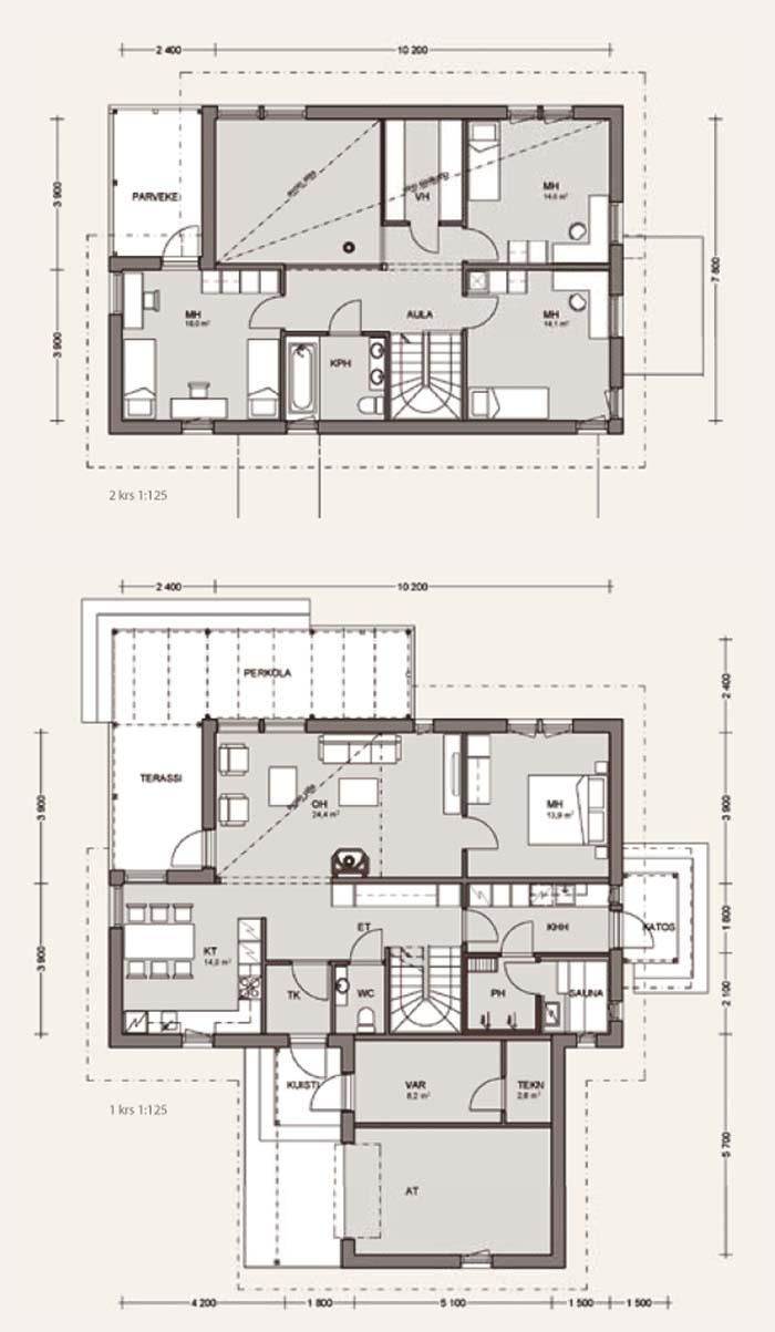 фото финских проектов домов