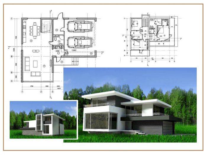 проекты каркасных домов в стиле хай тек