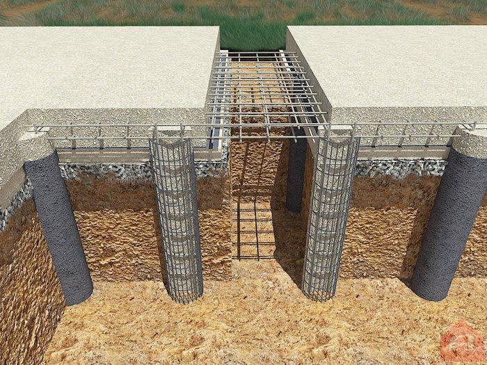 бетон в буронабивную сваю