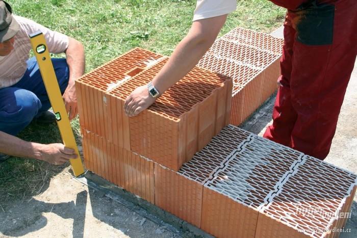 кладка керамического блока