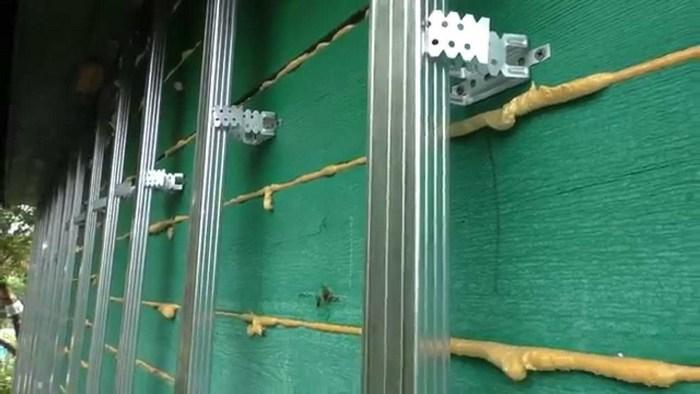 монтаж металлического блок хауса инструкция видео