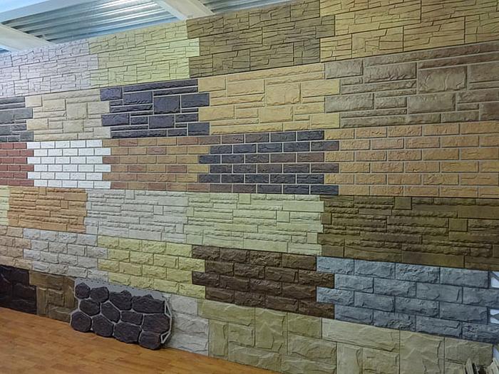 фасад из сайдинга под камень
