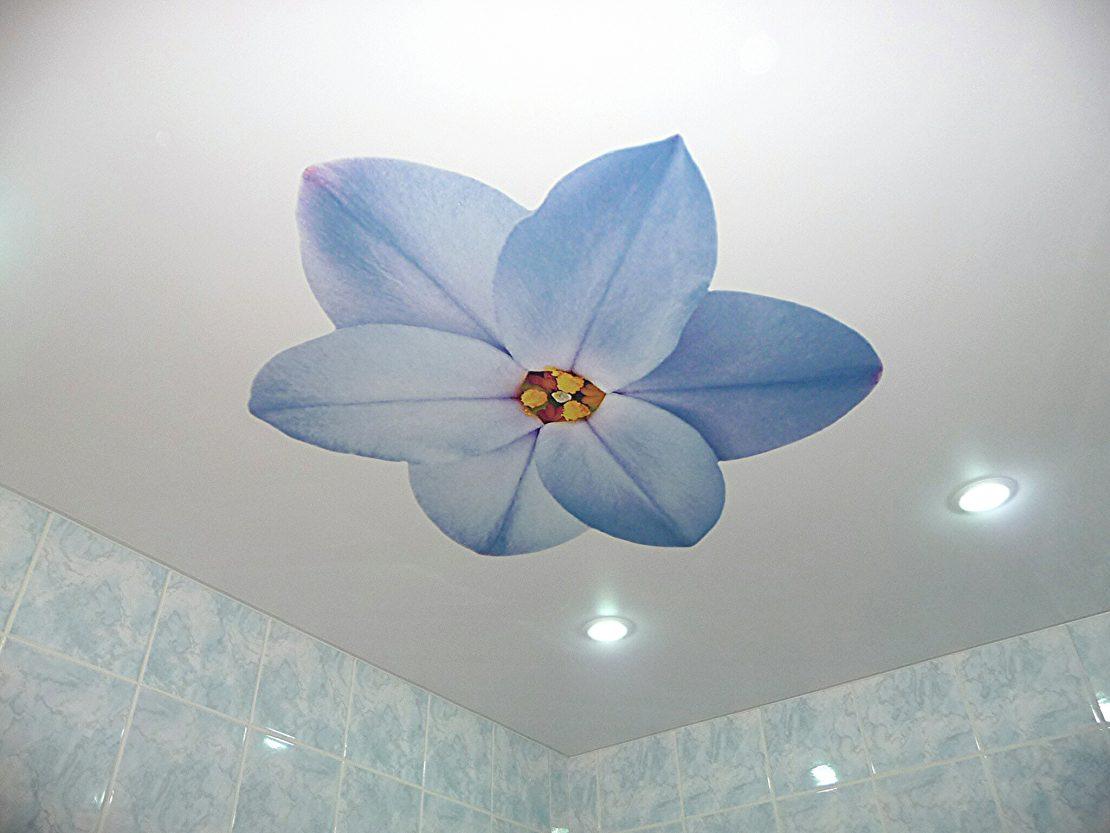 покраска потолка с рисунком