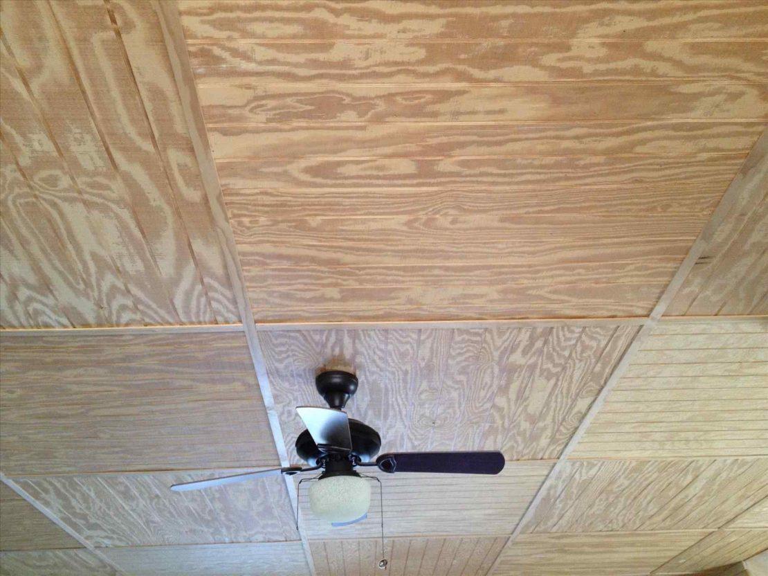 варианты монтажа фанеры на потолок