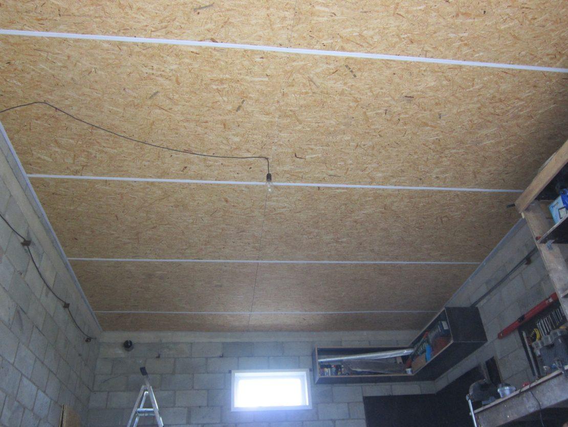 потолок из ОСП плиты