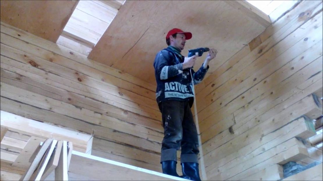 подшивка потолка фанерой