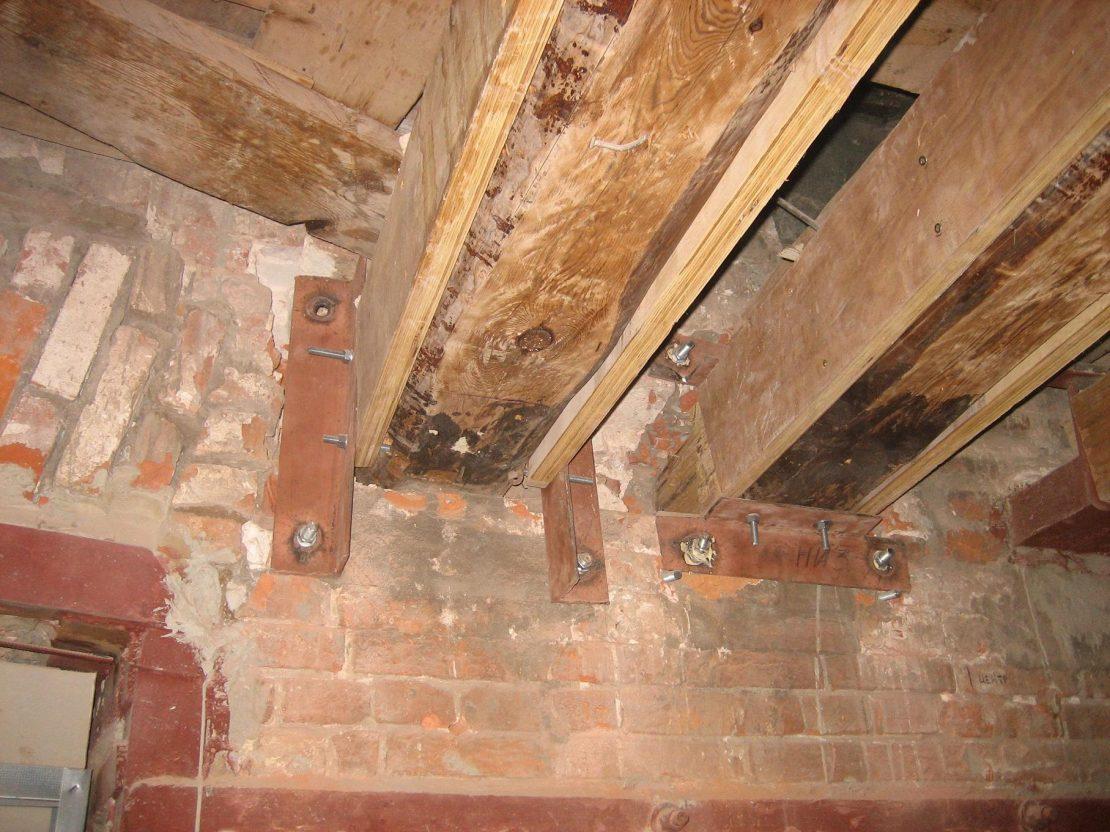 усиление потолка в деревянном доме