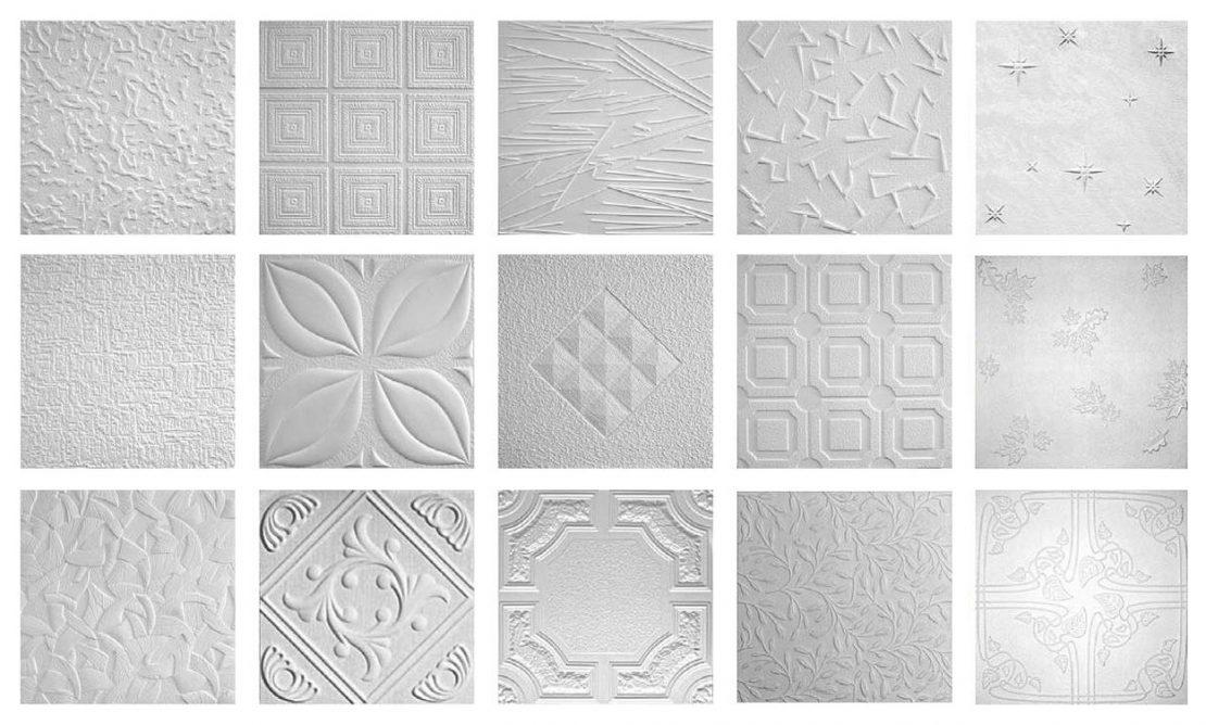 разновидности бесшовных потолочных плиток