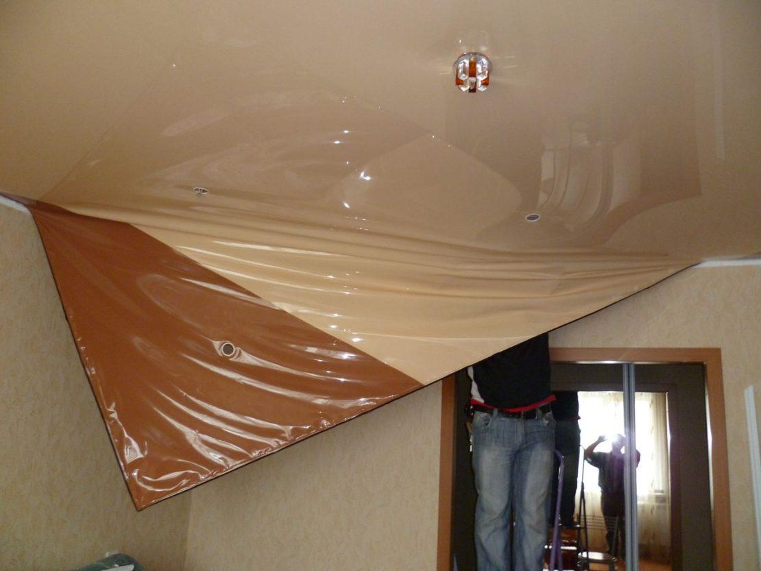 причины демонтажа потолка