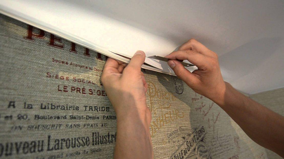 починить дырку в натяжном потолке
