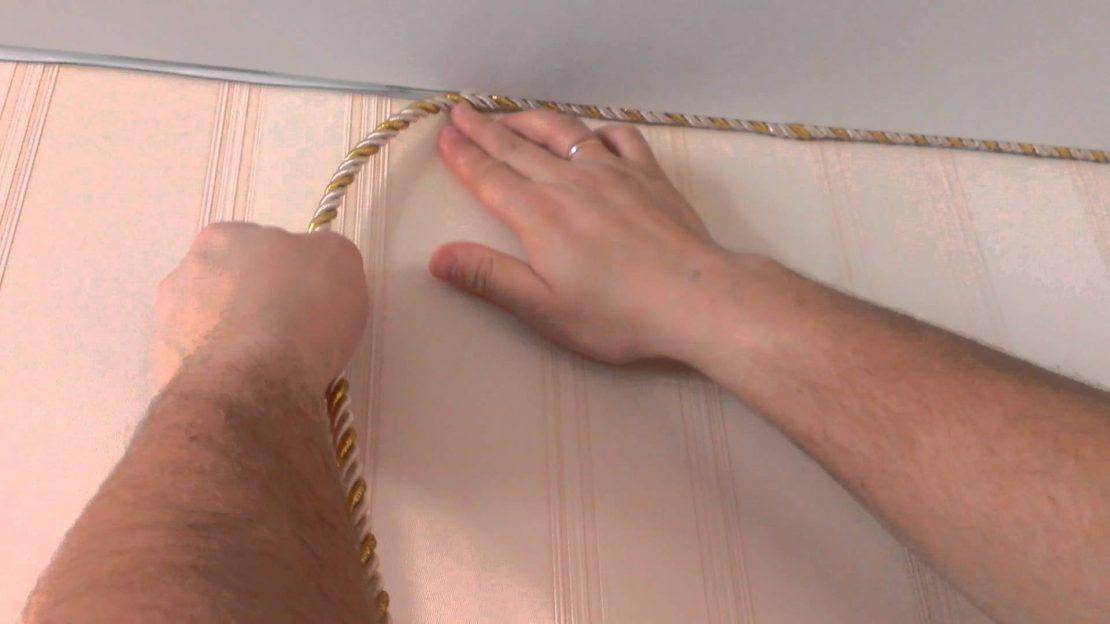 монтаж шнура для натяжных потолков