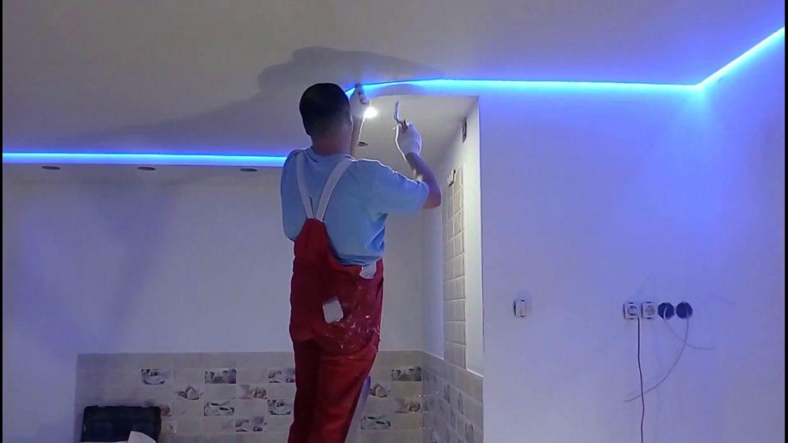 монтаж светопроницаемых потолков